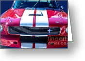 Photographers Fine Art Greeting Cards - Red 1966 Ford Mustang Shelby Greeting Card by James Bo Insogna