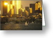 Lake Union Greeting Cards - retouched/Q.C.  CWL8200 Greeting Card by National Geographic