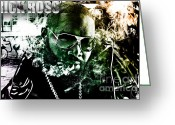 Digital Art Mixed Media Greeting Cards - Rick Ross Greeting Card by The DigArtisT