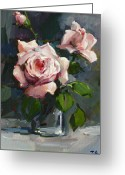 Girlfriend Greeting Cards - Roses Greeting Card by Tigran Ghulyan