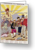 Conversation Greeting Cards - RUSSO-JAPANESE WAR, c1905 Greeting Card by Granger