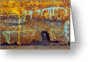 Neglected Greeting Cards - Rust Colors Greeting Card by Carlos Caetano