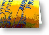 Sea Oats Digital Art Greeting Cards - Sea Oats Greeting Card by Blaine Filthaut