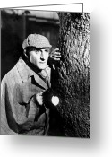 Suspicion Greeting Cards - Sherlock Holmes Greeting Card by Granger