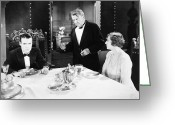 Tuxedo Greeting Cards - Silent Film: Restaurants Greeting Card by Granger