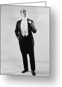 Tuxedo Greeting Cards - Silent Film Still: Fashion Greeting Card by Granger