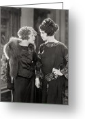 Glove Greeting Cards - Silent Film Still: Women Greeting Card by Granger