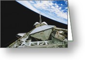 Space Ships Greeting Cards - Space Shuttle Endeavour Greeting Card by Science Source