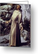 Ecstasy Greeting Cards - St. Francis Of Assisi Greeting Card by Granger
