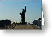 Grenelle Greeting Cards - Statue of Liberty Greeting Card by Charel Schreuder