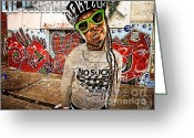 Carter Greeting Cards - Street Phenomenon Lil Wayne Greeting Card by The DigArtisT