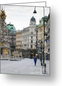 Wien Greeting Cards - Streets of Vienna Greeting Card by Andre Goncalves