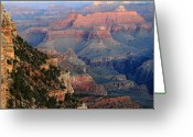 Wonders Of Nature Greeting Cards - Sunrise at Grand Canyon Greeting Card by Pierre Leclerc