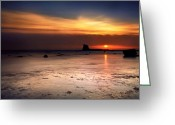 Seaview Greeting Cards - Sunrise Greeting Card by Svetlana Sewell