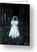 Veil Greeting Cards - The Bride Greeting Card by Joana Kruse