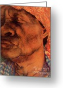 Person Pastels Greeting Cards - The Gaze Of Mother Witt Greeting Card by Curtis James