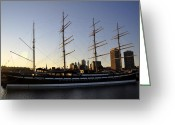 Delaware River Greeting Cards - The Moshulu Greeting Card by Andrew Dinh