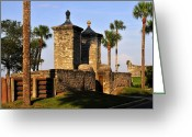 Florida House Greeting Cards - The Old City Gates Greeting Card by David Lee Thompson