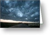 "\\\""storm Chasers\\\\\\\"" Greeting Cards - Thunderstorm And Supercell Greeting Card by Science Source"