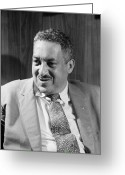 Civil Rights Greeting Cards - Thurgood Marshall Greeting Card by Granger