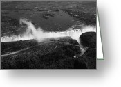 Zambia Greeting Cards - Victoria Falls Greeting Card by Aidan Moran