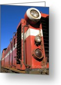Cabin Window Greeting Cards - Vintage Diesel Engine Greeting Card by Yali Shi