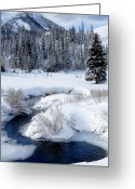 Snowy Range Greeting Cards - Wasatch Mountains in Winter Greeting Card by Utah Images