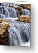 Cascades Greeting Cards - Waterfall Greeting Card by Elena Elisseeva