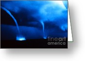 Supercell Greeting Cards - Waterspouts Greeting Card by Science Source
