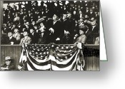 Washington Dc Baseball Greeting Cards - William Howard Taft Greeting Card by Granger