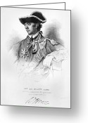 Signature Greeting Cards - William Howe (1729-1814) Greeting Card by Granger