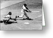 Catcher Greeting Cards - Willie Mays (1931- ) Greeting Card by Granger