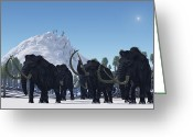 Expedition Greeting Cards - Woolly Mammoth Greeting Card by Corey Ford