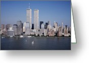 Twin Towers World Trade Center Greeting Cards - World Trade Center Greeting Card by Carol M Highsmith