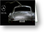 Mercedes Benz 300 Sl Classic Car Greeting Cards - 300 Sl Greeting Card by Dennis Hedberg