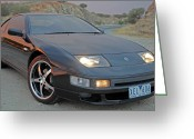 Chev Pickup Greeting Cards - 300 Zx Greeting Card by James Mcinnes