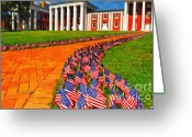 September 11 Greeting Cards - 3000 Flags Greeting Card by Kathy Jennings
