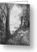 Genesis Greeting Cards - Milton: Paradise Lost Greeting Card by Granger
