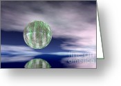 Screen Doors Greeting Cards - Planet Greeting Card by Odon Czintos