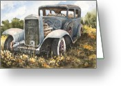 Motor Greeting Cards - 32 Buick Greeting Card by Sam Sidders