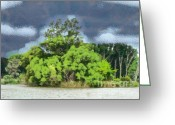 Odon Greeting Cards - Landscape Greeting Card by Odon Czintos