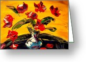 Flower Photography Painting Greeting Cards - Roses Greeting Card by Mark Kazav