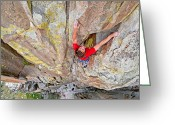 Prowess Greeting Cards - Climber Greeting Card by Mark Weber