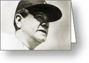 New York Yankees Greeting Cards - George H. Ruth (1895-1948) Greeting Card by Granger