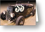 Ford Roadster Greeting Cards - 33 Shorty Williams Ford Greeting Card by Bill Dutting
