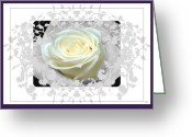 Formal Mixed Media Greeting Cards - Wedding Rose Collection  Greeting Card by Debra     Vatalaro