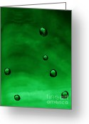 _york Greeting Cards - Drops Greeting Card by Odon Czintos