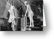 Nightgown Greeting Cards - Silent Still: Man & Woman Greeting Card by Granger