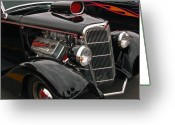 Classic Ford Roadster Greeting Cards - 35 Cabriolet Greeting Card by Bill Dutting
