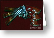 Criminals Greeting Cards - 357 Magnum - Painterly Greeting Card by Wingsdomain Art and Photography